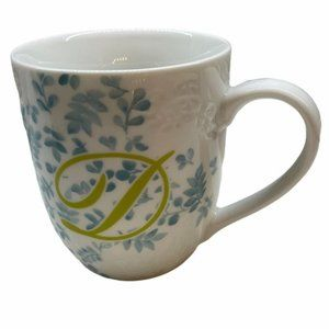 Pier 1 Letter D Monogram Coffee Mug